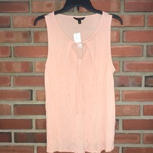 Banana republic NWT pink tank cotton tie front M